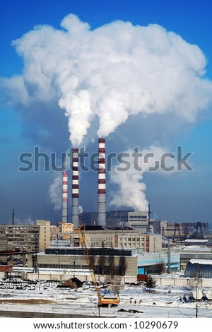 City Energy and Warm Power Factory - stock photo