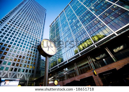 City finance Building with clock