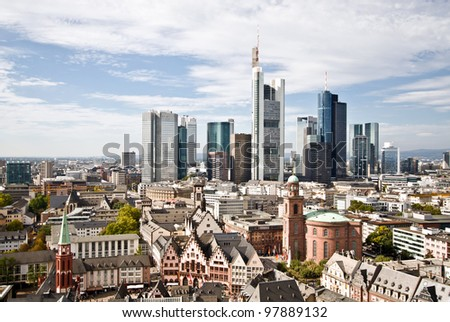 City Frankfurt skyline