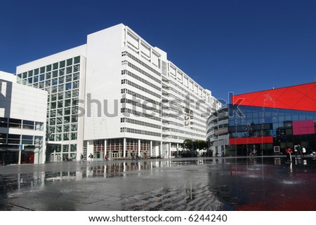 City Hall and theater in The Hague, Holland