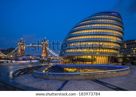 City Hall and Tower Bridge London