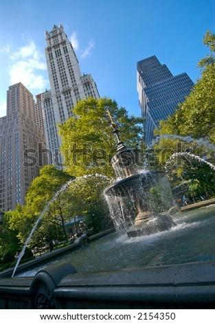 City Hall Fountain, NYC