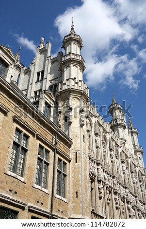 City Hall in Brussels, Belgium. Beautiful Gothic architecture.