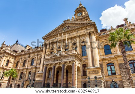 City Hall in Cape Town South Africa #632946917