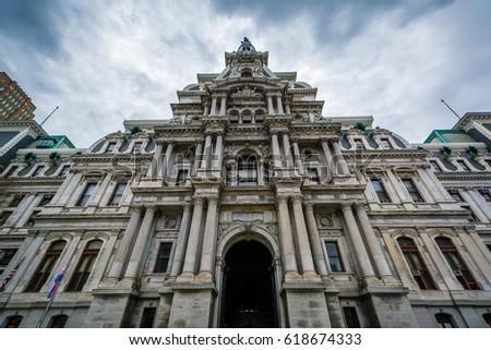 City Hall in Center City, Philadelphia, Pennsylvania.