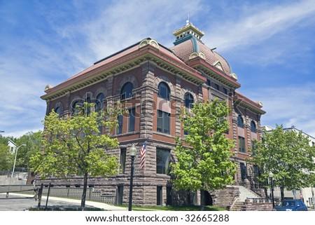 City Hall in Marquette, Michigan - stock photo