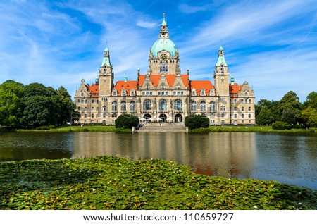 City Hall of Hannover, Germany in summer