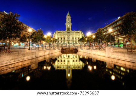 city hall of Porto, Portugal
