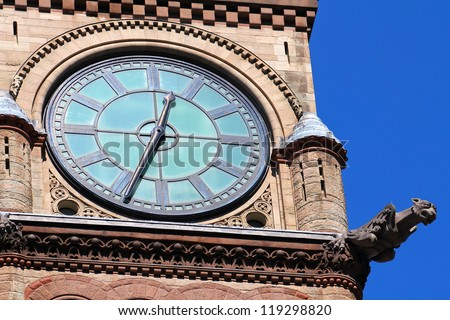 City hall tower clock. Toronto ON