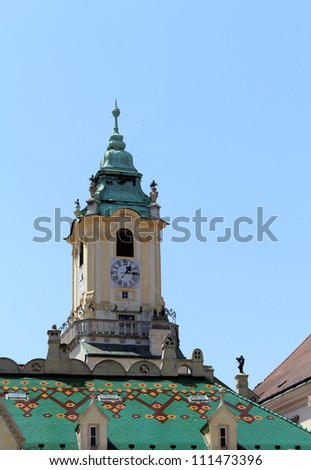 City Hall tower in Bratislava, Slovakia