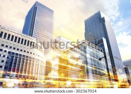 City illustration with traffic lights, London Photo stock ©