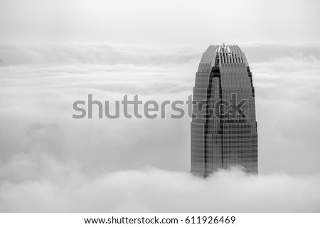 City in the clouds #611926469