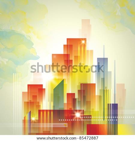 City Landscape. Raster version.