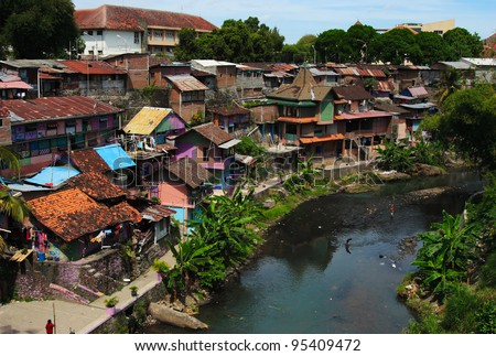 City landscape. Yogyakarta. Java island. Indonesia