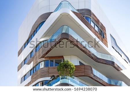 City Life in Milan. Zaha Hadid building