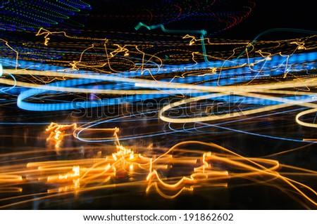 City light long exposure