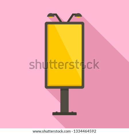 City lightbox icon. Flat illustration of city lightbox icon for web design