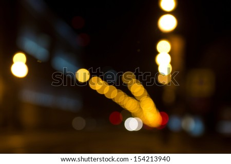city lights in the background