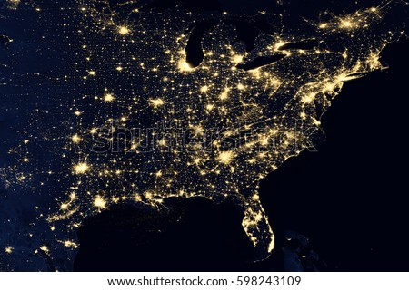 City lights on world map north america elements of this image are city lights on world map north america elements of this image are furnished by gumiabroncs Image collections