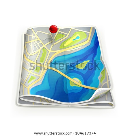 City map, bitmap copy