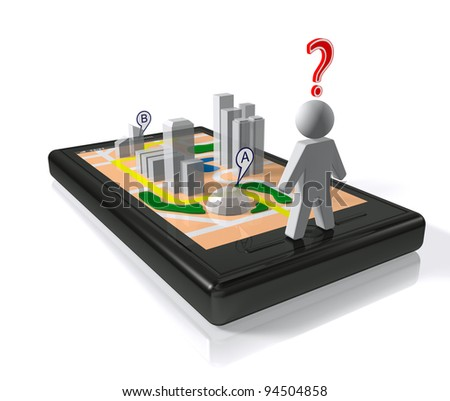City map in smart-phone