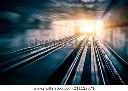 City Metro Rail,motion blur