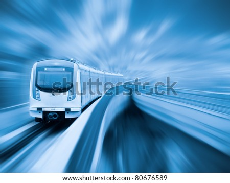 city metro with motion blur