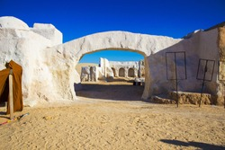 City Mos Espa, built in the middle of the desert in Tozeur, Tunisia