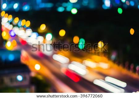 City night light blur bokeh background - Shutterstock ID 396772060