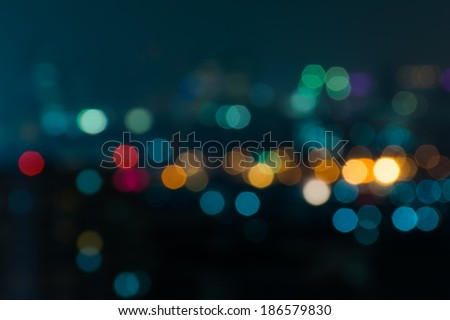 City night light blur bokeh , defocused background