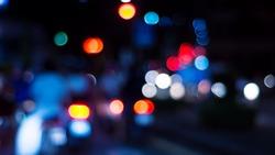 City night light bokeh and light blurred background