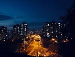 City Night View of Cheongju City, Korea