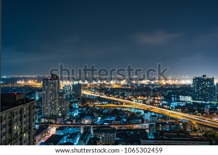 City night view shot. beautiful downtown night light, urban lifestyle