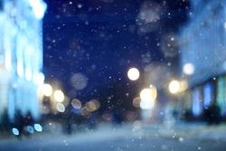 city �¢??�¢??night winter snow blurred background
