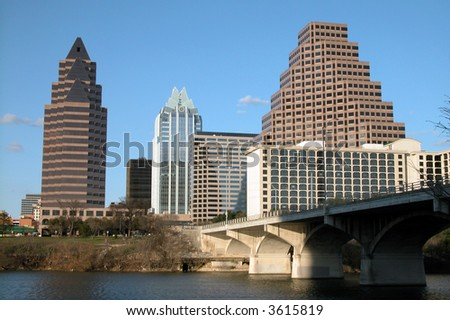 City of Austin, Texas downtown highrise buildings