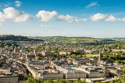 City of Bath, Somerset, England, view from Alexandra Park.