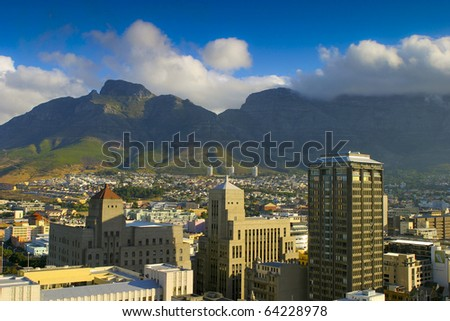 City of Cape Town in South Africa - stock photo