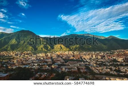 City of Caracas on a vibrant day