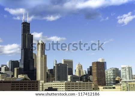 City of Chicago Downtown skyline