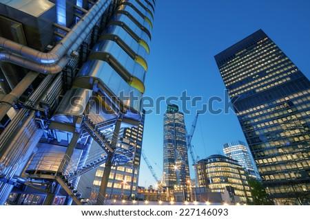 City of London at night.  #227146093