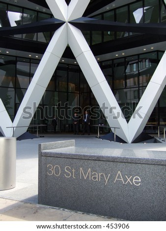 "City of London Office black at 30 St Mary Axe, known as the ""Gherkin"""