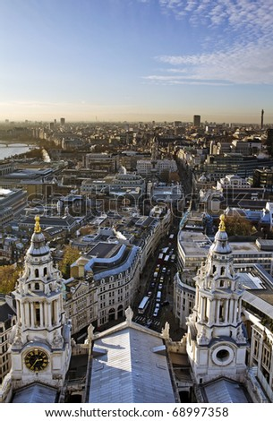 City of London view from St. Paul's Cathedral