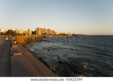 City of Montevideo, Uruguay - stock photo