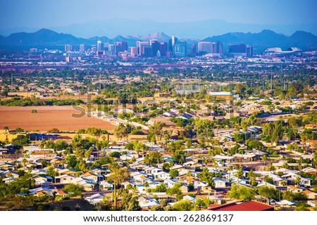Shutterstock City of Phoenix Panorama. Phoenix, Arizona, United States.