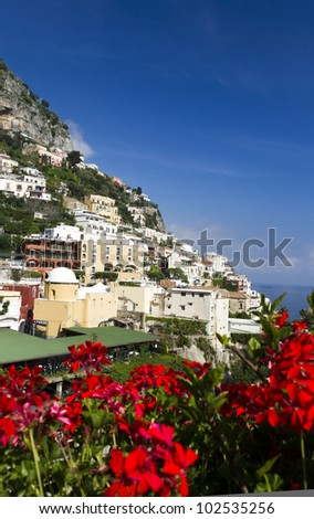 City of Positano, Amalfi coast, Italy