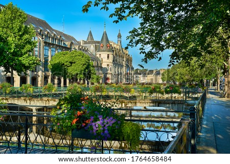 city of quimper with castle in brittany france Stok fotoğraf ©