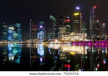 City of Singapore at night
