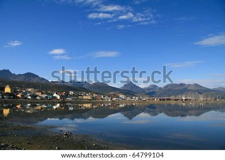 City of Ushuaia in Tierra del Fuego, Argentina