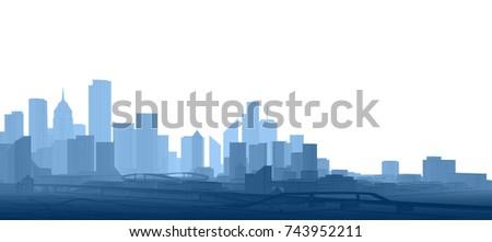 city, panorama, 3d illustration