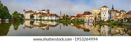 City panorama of Jundrichuv Hradec, a city with castle complex in South Bohemia, Czech Republic Stock photo ©